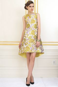 Resort 2013 Trend: Grand Stand  (Fit-and-flare dress by Osman, worn with an Alexis Bittar bracelet and Sigerson Morrison shoes.)