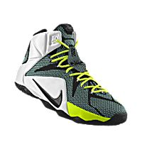 I designed the black Nike LeBron 12 iD men's basketball shoe with volt and  white trim
