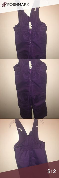 NWOT purple girls toddler snow bib size 3t Cherokee snow bib without tags, never worn. Great deal for upcoming winter season Cherokee Jackets & Coats