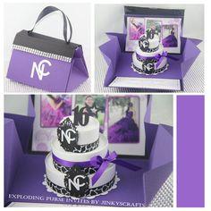 Purple Purse Invitation Wedding Box Invitation by jinkyscrafts, $50.00
