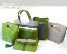 variety of felt bags
