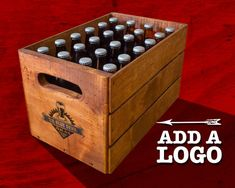 Carry your beer in style with this vintage custom wooden beer crate. Designed to carry 24 standard beer bottles, this sturdy crate will keep