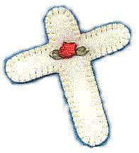 Cross Felt Ornament