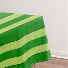 Light And Dark Green Stripes Tablecloth - retro kitchen gifts vintage custom diy cyo personalize