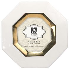 Octagon Ceramic with Gold Picture Frame