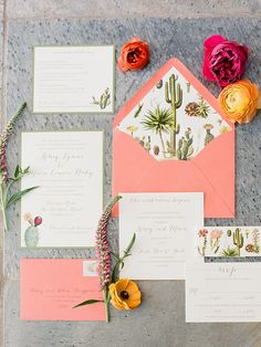 Hosting your nuptials in a fun, far away destination? Give a nod to the scenic locale on your wedding invitations so your guests can get a feel for your day!
