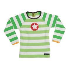 Villervalla Avocado Stripe l/s T-shirt