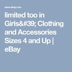 limited too in Girls' Clothing and Accessories Sizes 4 and Up | eBay