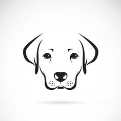 Vector image of an dog labrador by yod67 on @creativework247