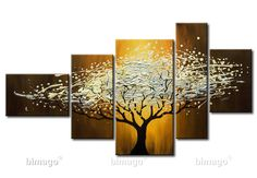 Tree Painting. this would be cool to do the different seasons...one on each canvas
