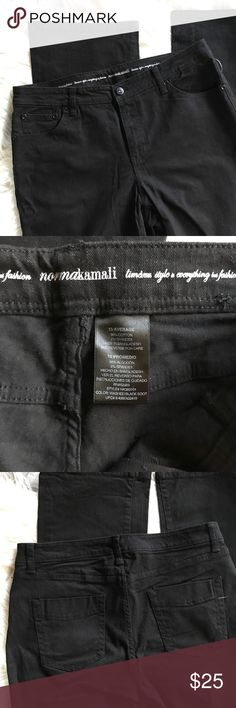 """NWT Norma Kamali High Rise Black Jeans New with tags straight leg black jeans from Norma Kamali. Zip fly with button.  Front & back pockets.  Size 10 Average:  waist across laying flat 16.25"""", rise 10"""", inseam 32.5"""", leg opening 9"""".  98% cotton, 2% spandex. Norma Kamali Jeans Straight Leg"""