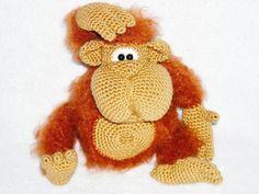Crochet Monkey amigurumi Monkey Stuffed Monkey by innakozachuk