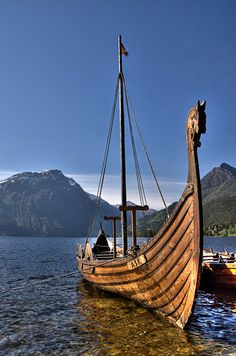 Viking ship in Shetland, Scotland