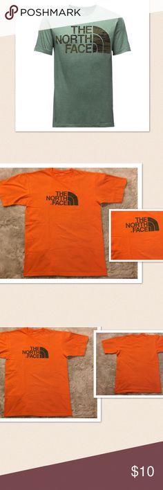 "The Northface Men's Half Dome Tshirt The Northface Men's Half Dome T Shirt. Tag has been removed with the size. Measures: 20"" pit, 26"" length. Maybe a Medium. Preowned. Normal signs of wash. Great condition. If this condition is not right for you do not purchase. The North Face Shirts Tees - Short Sleeve"