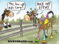 Buck off Steve, Kid's Camp Cartoon Card