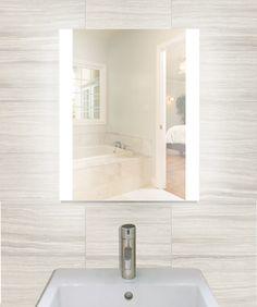 """Creators Civis CVCH2436LED LED 24"""" x 36"""" Charli Lighted Bathroom Mirror"""