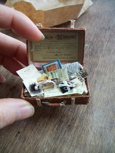 Tiny suitcase by Sylvia Beuker at Sabs Mini Interiors