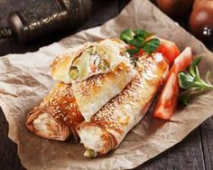 Our Easy Spinach, Pumpkin and Feta Rolls are a great alternative to the classic sausage roll. Ideal for parties and picnics, you can also enjoy them for lunch or as a light dinner. Veggie Rolls, Vegetarian Recipes, Healthy Recipes, Sausage Rolls, Fresh Rolls, Hot Dog Buns, Food Inspiration, Feta, Spinach