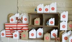Love, love, love this advent calendar. Dress up the labels by designing a special holiday theme with free templates at avery.com/print and 5410 round labels. #christmas