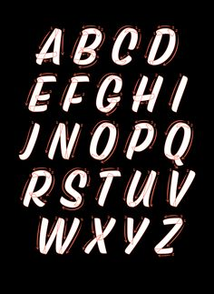 Modern Techniques for Digitizing Script Alphabets — Typograph.HerYou can find Sign painting and more on our website.Modern Techniques for Digitizing Script Alphabets — . Script Alphabet, Design Alphabet, Hand Lettering Alphabet, Typography Letters, Calligraphy Fonts, Script Fonts, Chalk Typography, Letter Fonts, Types Of Lettering