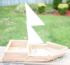 Columbus Day Crafts and Activities.for Columbus presentation Popsicle Stick Boat, Popsicle Stick Crafts, Craft Stick Crafts, Diy Crafts, Craft Sticks, Fun Crafts For Kids, Projects For Kids, Diy For Kids, School Projects