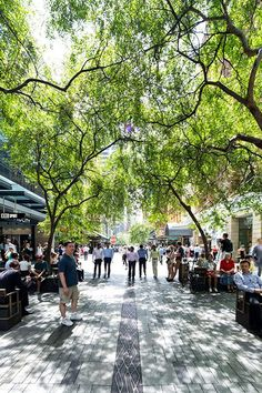 Pitt Street Mall (2012)  Sydney, Australia  Tony Caro Architecture  Found on landezine.com