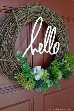 hello succulent wreath - apt staging