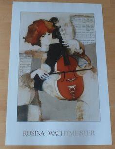 Rosina Wachtmeister * Concerto Barocco * Poster Kunstdruck Art Print 1986