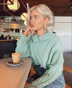 ShopStyle Look by featuring Moth Juliette Turtleneck and Paper London Celilia Ribbed Wool Turtleneck Sweater Cloudy Day Outfits, Warm Outfits, Classy Outfits, Spring Outfits, Winter Outfits, Casual Outfits, Cute Outfits, Fashion Outfits, Laura Jade Stone