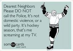 This is my husband every hockey season. I LOVE hockey but he loves to scream at the tv. Hockey Rules, Flyers Hockey, Blackhawks Hockey, Hockey Teams, Hockey Players, Hockey Stuff, Chicago Blackhawks, Caps Hockey, Sports Teams