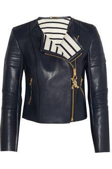 Sophie Hulme Leather biker jacket | NET-A-PORTER..ooh so SO good