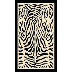 Milliken Innovation Print Zulu Zebra Area Rug Rug Size: Rectangle x Zebra Print Rug, Animal Print Rug, Zulu, White Area Rug, Beige Area Rugs, White Rug, Zebra Living Room, Clearance Rugs, Cool Rugs