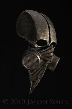 Bronze Cenotaph Mask alt angle by Jason Soles - Photo Ken Wagner Gas Mask Art, Masks Art, Cyberpunk, Zbrush, Plague Doctor, Le Far West, Skull And Bones, Mask Design, Facial Masks