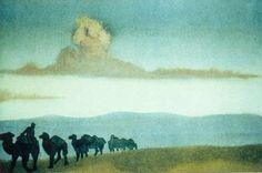 Chahar (Caravan in the desert) - Nicholas Roerich