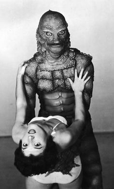 Creature from the Black Lagoon publicity shot photo vintage retro antique image classic horror movie movies film Halloween monster monsters