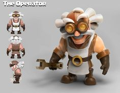 clash of clan style charactes and catapult design by Peachlab on DeviantArt Funny Character, Game Character Design, Character Modeling, Character Design References, Character Concept, Game Design, Character Art, Clash Royale, Robot Concept Art