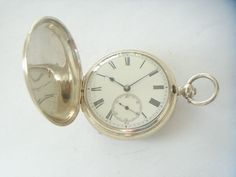 1869 SILVER CASED FUSEE HUNTER POCKET WATCH ROB BRAGG TOWN TIME STROUD