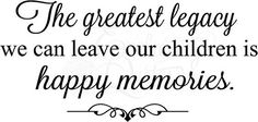Vinyl Ready Quotes Happy Family Memories Wall Sayings