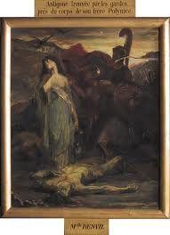 Verdier, Jules-Victor 1882.Antigone trouvée par les gardes Les carnets d'Eimelle littérature théâtre voyage: Antigone théâtre et peinture 1