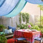 inexpensive and lovely way to create shade