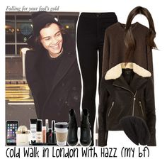 """Cold walk in London with Hazz (my boyfriend)"" by jaynnelinsstyles ❤ liked on Polyvore featuring Topshop, La Garçonne Moderne, Dorothy Perkins, David & Young, OUTRAGE, Shoe Cult, Smashbox, Chloé, OneDirection and harrystyles"