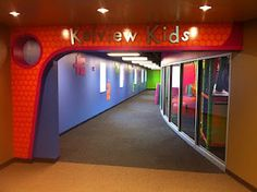 Church Indoor Playground and Creative Themed Kids Area at Kelview Heights Baptist Church Kids Church Decor, Kids Church Rooms, Church Nursery, Church Ideas, Children Church, Kids Decor, Kids Room, Worlds Of Wow, Church Lobby