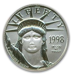 1998  American Eagle 1/4 oz. of platinum