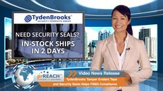 TydenBrooks Tamper Evident Tape and Security Seals Helps FSMA Compliance  http://www.prreach.com/tydenbrooks-tamp…-fsma-compliance/