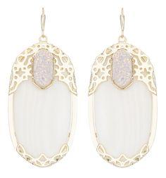 Kendra Scott Deva Drop Earrings Mother of Pearl   SusanB.com