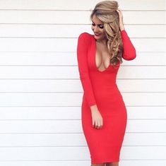 Black V Neck Ruched Long Sleeve Sexy Bodycon Dress   Sexy Club Party Dresses  For Women 604f8bb24