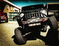 """Jeep Wrangler Rubicon AEV 3.5"""" with 35"""" BF Goodrich KM2 tyres, Smittybilt 12000lb synthetic rope winch and smittybilt bullbar"""