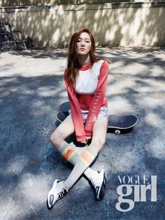 Lee Sung Kyung in Dazed and Confused Korea and Vogue Girl Korea August 2015 Lee Sung Kyung Fashion, Girl Korea, Girls Magazine, Cute Japanese Girl, Korean Actresses, Korean Celebrities, Korean Model, Female Models, Stylish Outfits