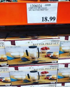 "b99ade47e84a Costco Deals on Instagram  ""😍 Great  giftidea!  chicagometallic 4 pc   batter prep set only  18.99!  costcodeals  costco  price and availability  may vary"""