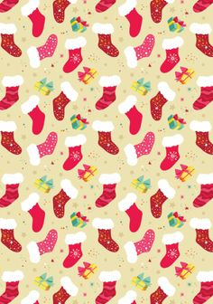 Christmas Scrapbook Paper - Christmas stocking design